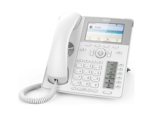 Des téléphones SNOM blancs et élégants
