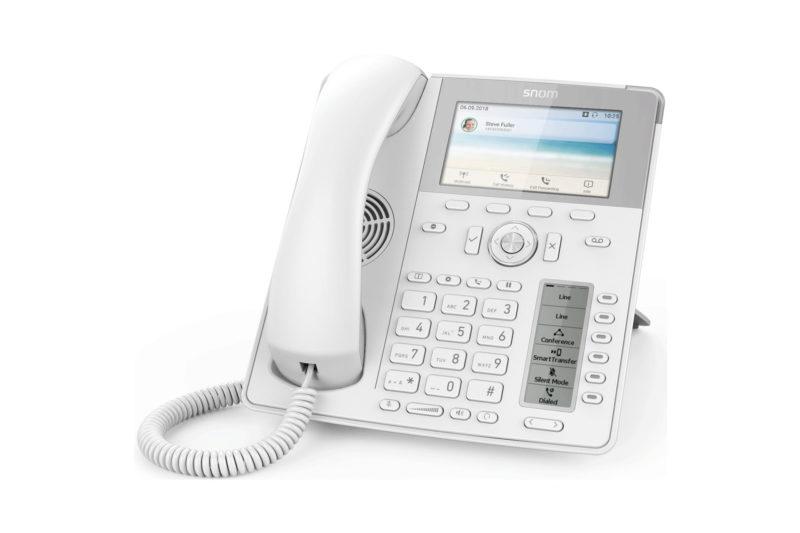 téléphones SNOM blancs d785
